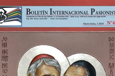 Boletín Internacional Pasionista<br>N°48 (3-2019)