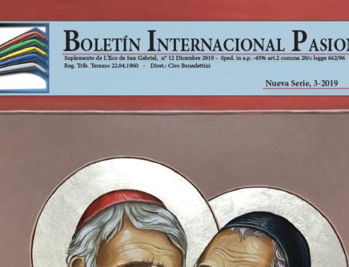 Boletín Internacional PasionistaN°48 (3-2019)