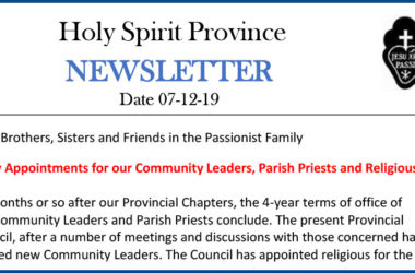 Holy Spirit Province NEWSLETTER – 07 December 2019