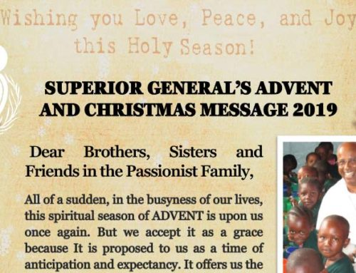 Superior General's Advent and Christmas Message 2019