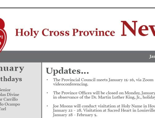 HOLY CROSS PROVINCE NEWS — January 2020