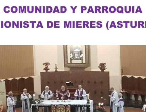 Visita del ICONO y de la RELIQUIA… Comunidad y Parroquia Pasionista de MIERES (ASTURIAS)