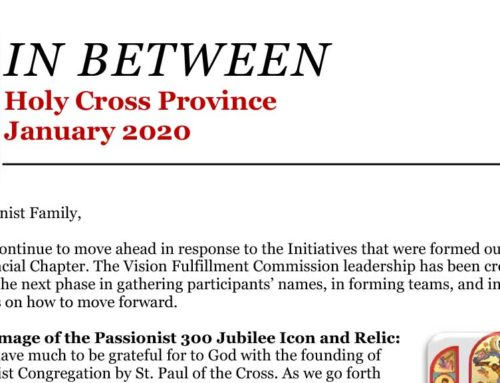 IN BETWEEN Holy Cross ProvinceJanuary 2020