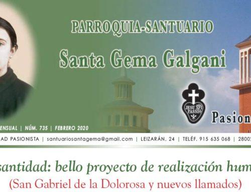 """Revista """"SANTA GEMA"""" – Febrero 2020"""
