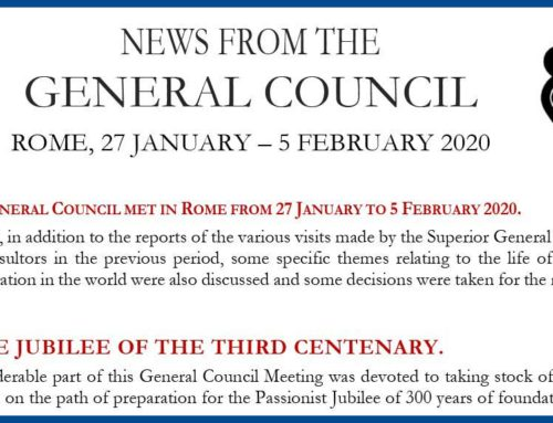 News from the GENERAL COUNCILRome, 27 January – 5 February 2020
