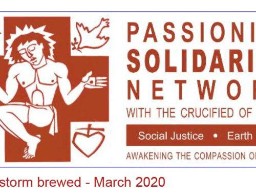 PASSIONIST SOLIDARITY NETWORK – April 2020