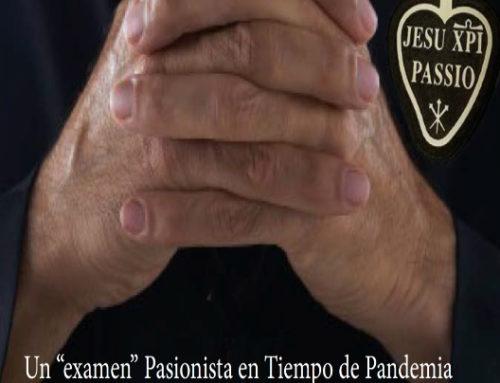 Un «examen» Pasionista en Tiempo de PandemiaP. Joackim Rego, Superior General