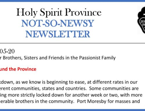 HOLY SPIRIT PROVINCE Newsletter – 13 May 2020