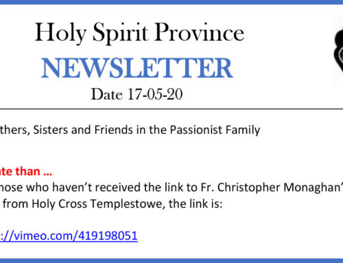 HOLY SPIRIT PROVINCE Newsletter – 17 May 2020