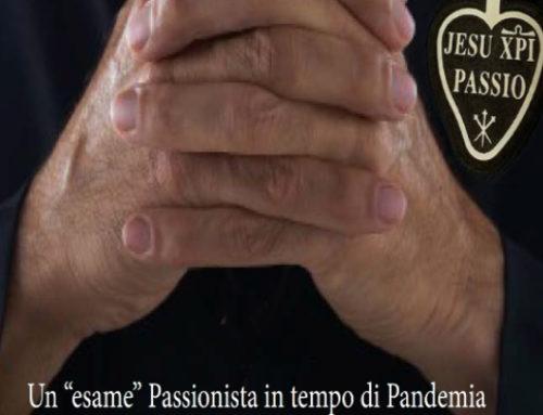 "Un ""esame"" Passionista in tempo di PandemiaP. Joachim Rego, Superiore Generale"
