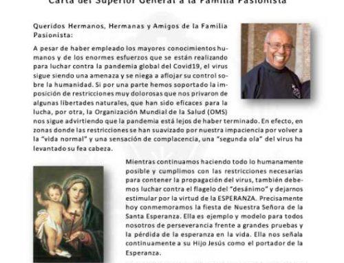 ÁNIMO EN TIEMPOS DIFÍCILESCarta del Superior General a la Familia Pasionista