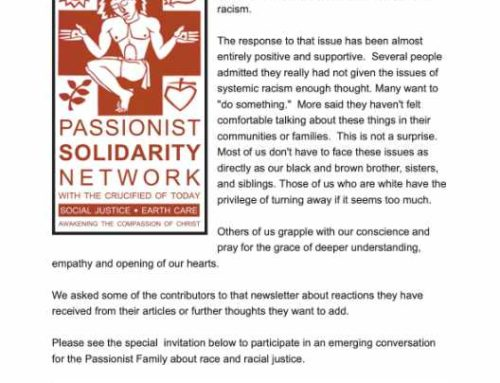 PASSIONIST SOLIDARITY NETWORK – September 2020