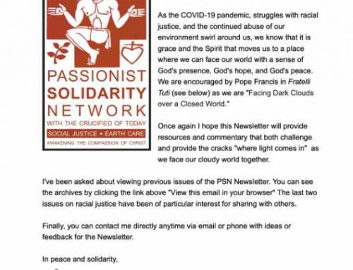 PASSIONIST SOLIDARITY NETWORK – October 2020