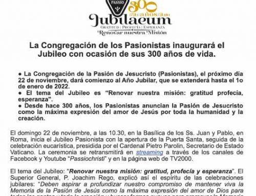 Segundo comunicado de prensasobre el inicio del Jubileo de la Congregación
