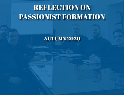 REFLECTION ON PASSIONIST FORMATIONAutumn 2020