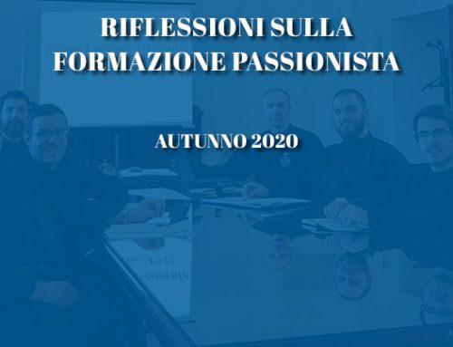 RIFLESSIONI SULLA FORMAZIONE PASSIONISTAAutunno 2020