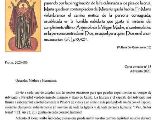 Monjas Pasionistas.- Carta circular 13