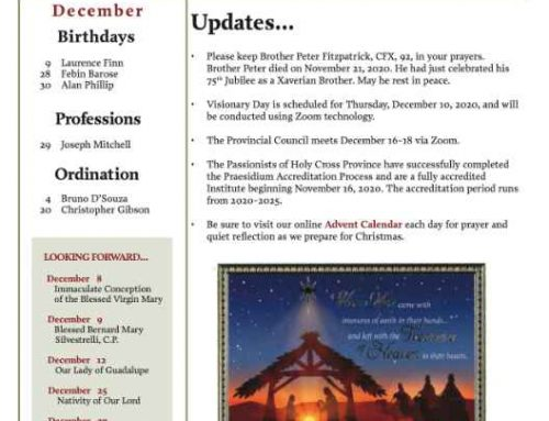Holy Cross Province News – December 2020