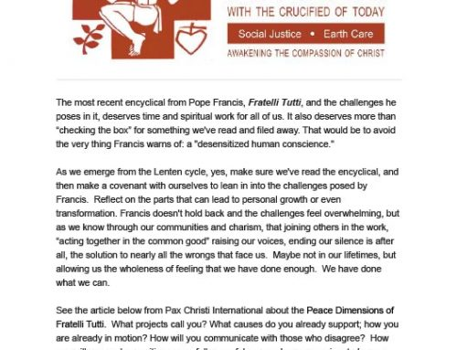 PASSIONIST SOLIDARITY NETWORK – March 2021