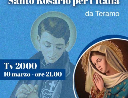 Il Rosario per l'Italia in onda da Teramo