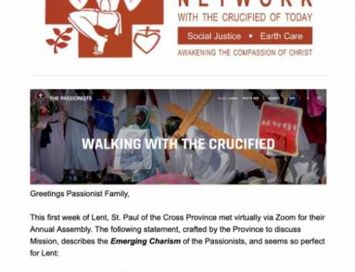 PASSIONIST SOLIDARITY NETWORK – February 2021