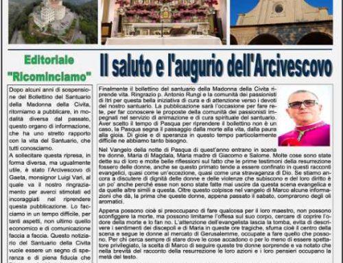 """Bollettino """"La Madonna della Civita""""-Aprile 2021"""