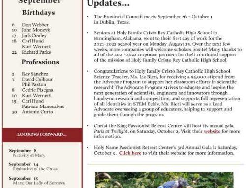 Holy Cross Province News – September 2021
