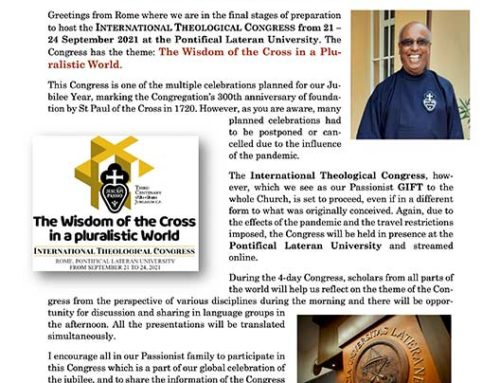 Invitation of the Superior General toIV INTERNATIONAL THEOLOGICAL CONGRESS